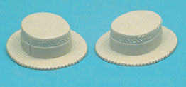 Dollhouse Miniature Straw Hat 2/Pcs.