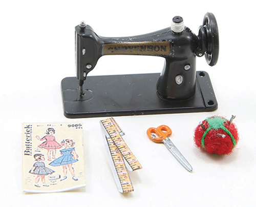 Dollhouse Miniature Sewing Machine Set