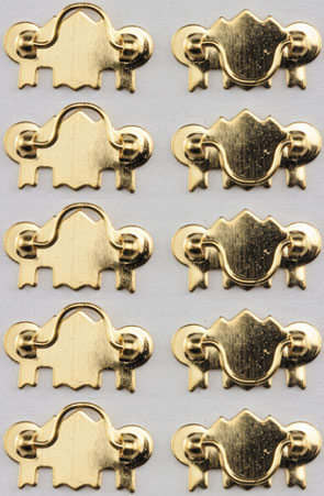 dollhouse miniatures Chippendale drawer pulls 1//12 scale