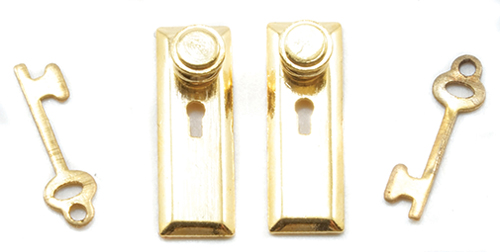 "Dollhouse Miniature 1/2"" Scale Knob, Key plate, Keys, 6/Pk"