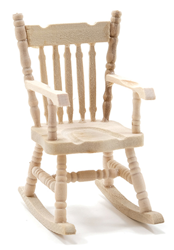 Dollhouse Miniature Rocking Chair, Unfinished