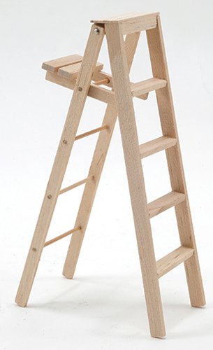 Dollhouse Miniature Step Ladder, 5 Inch