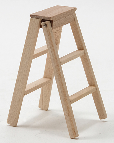 Dollhouse Miniature Step Ladder, 2 Inch