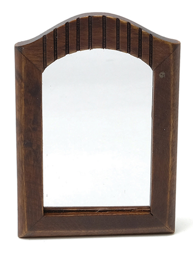 Dollhouse Miniature Mirror, Walnut