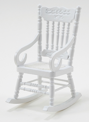 Dollhouse Miniature Gloucester Rocker, White
