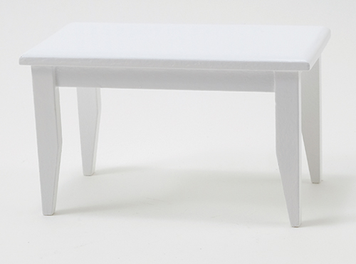 Dollhouse Miniature Table, White