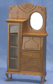 Dollhouse Miniature Secretary, Walnut