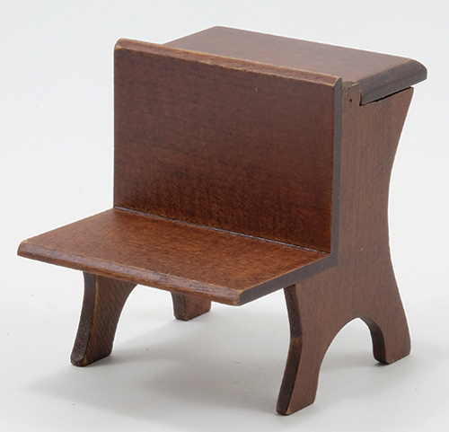 Dollhouse Miniature School Desk, Walnut