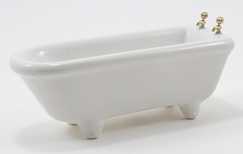 Dollhouse Miniature Tub, White