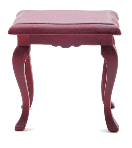 Dollhouse Miniature Side Table, Mahogany