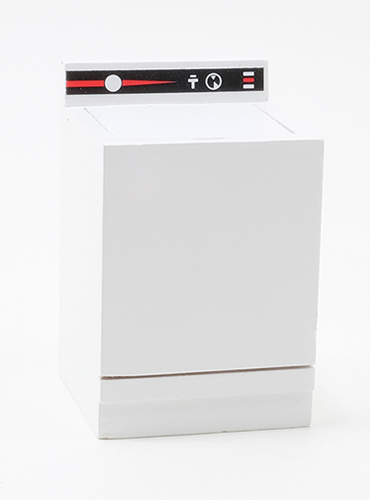 Dollhouse Miniature Washer, White