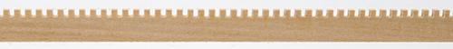 Dollhouse Miniature Dentil Molding, 3/8 X 24L