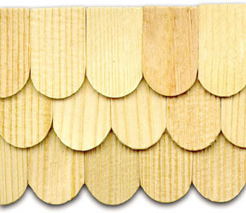 Dollhouse Miniature Shingles: Fishscale Split, 1000/Pk