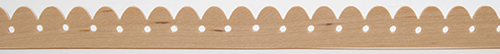 Dollhouse Miniature Picket Trim, 5/8 X 24