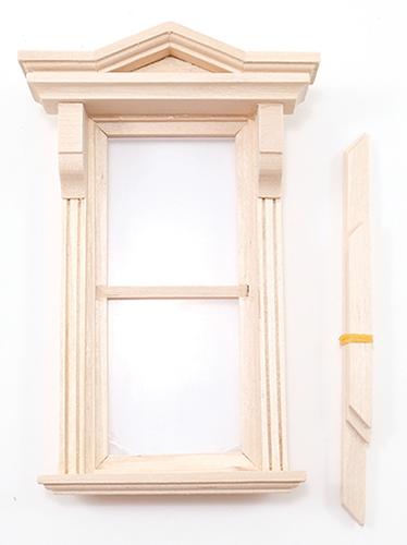 Dollhouse Miniature  Bonnet Window Pediment Set of 2