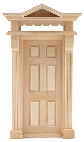 Dollhouse Miniature Victorian 6-Panel Door