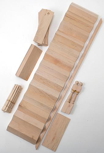 Dollhouse Miniature Staircase Kit, 14 X 3 3/16