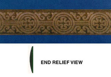 Dollhouse Miniature Embossed Trim: Clover, 15/16 In.