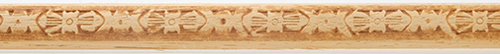 Dollhouse Miniature Embossed Trim: Large Totem Pole, 9/16