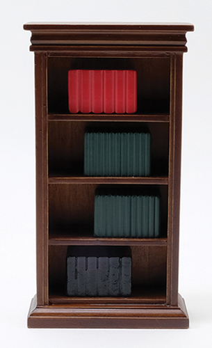 Dollhouse Miniature Bookshelf & Books