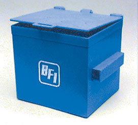 Dollhouse Miniature Dumpster, Blue