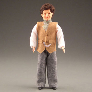 Dollhouse Miniature Victorian Dad W/Vest