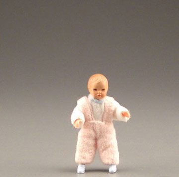Dollhouse Miniature Infant In Pink Or Blue