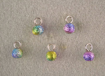 Dollhouse Miniature (5) Multi Colored Foil Ornaments