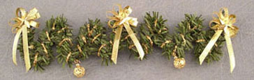 Dollhouse Miniature Staircase Garland, Gold
