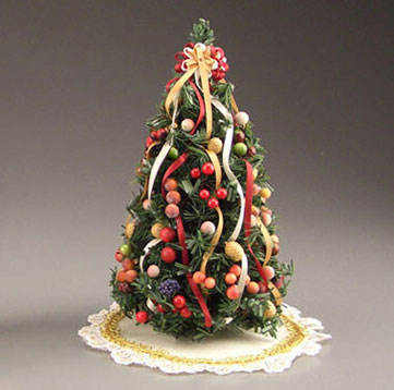Dollhouse Della Robbia Christmas Tree With Shirt Dh49107 Just