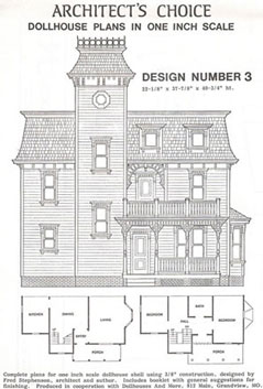 Dollhouse Miniature Dollhouse Plan #3