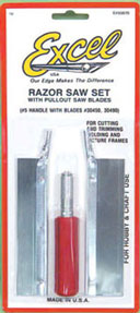Dollhouse Miniature Razor Saw Set