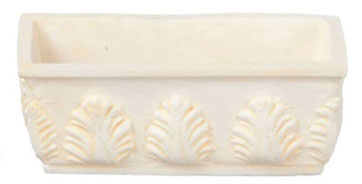 Dollhouse Miniature Flower Box 6Pcs Ivory