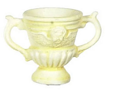 Dollhouse Miniature Ivory Urn 2Pcs