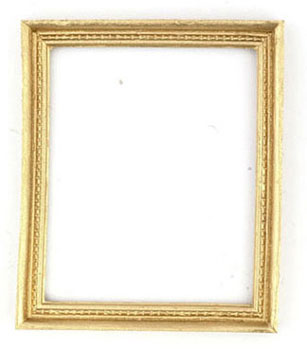 Dollhouse Miniature Gold Frame, 1 Pc