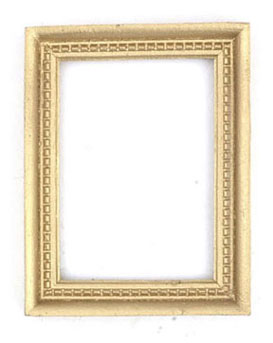 Dollhouse Miniature Gold Frame, 2Pc