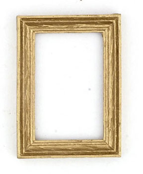Dollhouse Miniature Gold Frame/2Pcs