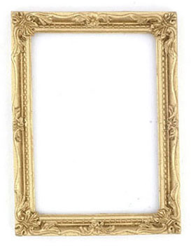 Dollhouse Miniature Gold Frame, 1Pc