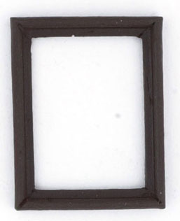 Dollhouse Miniature Frame, Walnut, 4 Pc
