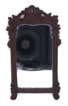 Dollhouse Miniature Large Frame, Rosewood