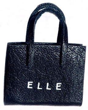"Dollhouse Miniature Lady's Handbag, """"Elle"