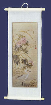 Dollhouse Miniature Chinese Silk Picture