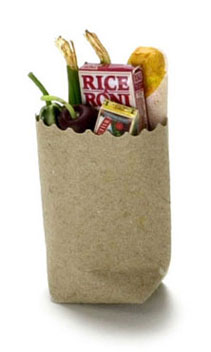 Dollhouse Miniature Grocery Bag