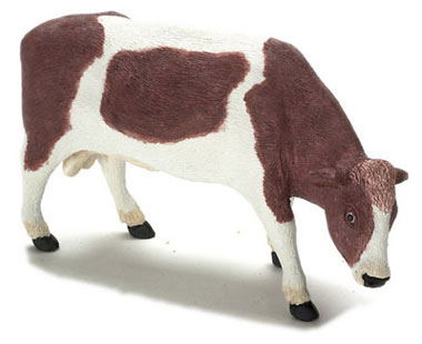 Dollhouse Miniature Bull, Brown