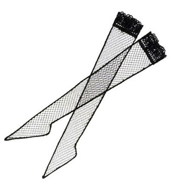 Dollhouse Miniature Stocking Black Net