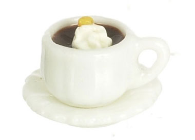 Dollhouse Miniature Hot Chocolate, 3Pc