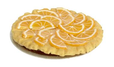 Dollhouse Miniature Orange Tart, 3Pcs
