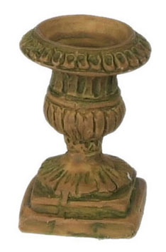 "Dollhouse Miniature 1/2"" Scale Urn, 6Pc, Aged"