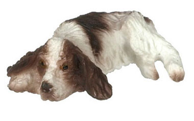 Dollhouse Miniature Laying Eng. Springer Spaniel