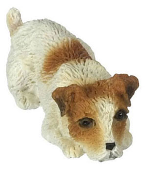 Dollhouse Miniature Jack Russell